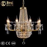 Neuestes Entwurfs-Messingfarben-Metallkristallleuchter-Licht