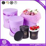 Caixa de empacotamento redonda Handmade da Superior-Classe para a flor