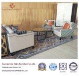 Hölzerne Hotel-Möbel mit Vorhalle-Gewebe-Sofa stellten ein (YB-O-43)