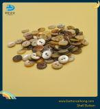Окрашивания Agoya Pearl Shell кнопка с 2 отверстиями для женщин по пошиву одежды