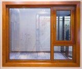 Het Europese Stevige Houten Venster van het Ontwerp met Dubbel Glas