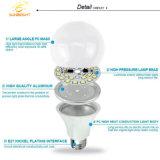 Carcasa de plástico de alto brillo E27 18W Bombilla LED con buena materia prima piezas de repuesto