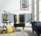 현대 직물 까만 식사 커피 의자