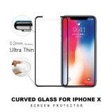 Pellicola protettiva dello schermo del telefono mobile, schermo rotondo di vetro Tempered del telefono mobile del bordo di 9h 5D per il iPhone X