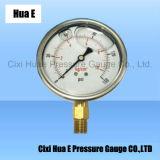 3inches振動証拠のステンレス鋼の圧力計