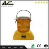 물통 유형 공중 소통량 도로 안전 휴대용 태양 바리케이드 램프