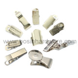 Белый металлический хомут крепления шторки с кольцом
