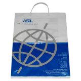 Tecleo encima del bolso rígido de la promoción de las compras de la bolsa de plástico de la maneta del recorte