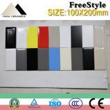 Baumaterial-reine Farbe glasig-glänzende keramische Wand-Fliese für Badezimmer und Küche (M1200A)