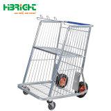 Cheap Mute Chariot de transport en plastique en acier inoxydable pour le transport de l'utilitaire