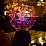 Esfera de vidro da lâmpada de luz relâmpago Som de Bola de plasma activado
