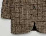 Capa femenina del juego de la tela escocesa de la chaqueta del juego del paño grueso y suave por encargo del ocio 2017