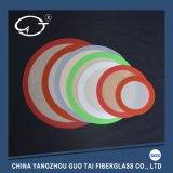 '' stuoia rotonda di cottura del silicone rosso di pollice di diametro 11