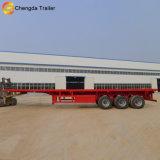 Rimorchio della base piana del contenitore dell'asse 40t di prezzi bassi 3 semi