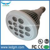 Carcasa blanca 7W/9W/12W Luce PAR PAR LED de luz 38