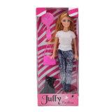 11.5 Zoll-Form-Puppe-Spielzeug mit Jeans u. Zubehör für Kinder