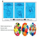 Gumball Candy das bolas saltitonas cápsulas de brinquedo máquina de venda automática em espiral