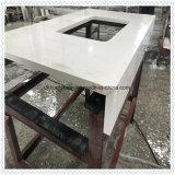 Китайский белый искусственного кварца кухонном столе на кухне проектов