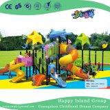 Новый открытый зеленую крышу космического пространства оцинкованной стали игровая площадка для детей (HG-9601)