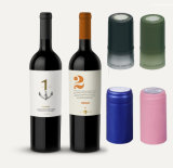 Empty Painted Color Aluminum Foil Capsule Wine Bottle Cap