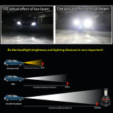 Nuevo diseño de luces LED coche X4, faros de color dual 6500K 8000LM Fanless sin Canbus Error X4 LED de automático de faros H7 H4