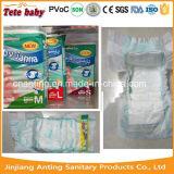 Tecidos respiráveis descartáveis da fralda das fraldas do tecido do bebê