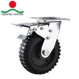8インチのゴム製車輪が付いている頑丈な旋回装置の足車