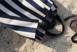 Nouveau mode de toile de grande capacité de bande femmes sac fourre-tout de plage