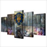 居間のホーム装飾のためのWarcraftの文字キャンバスの絵画芸術ポスター壁映像のHDプリント5クイズ番組の世界