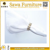Caliente de venta al por mayor elegante elegante decoración de boda toalla mesa plegable con anillo