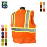 Het oranje Volwassen Weerspiegelende Katoenen van de Veiligheid Vest van het Werk