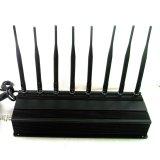 고품질 조정가능한 주파수 2 바탕 화면 2g 3G 4G 셀룰라 전화 방해기 GPS WiFi 방해기, VHF UHF 방해기, Lojack 방해기, 315/433MHz 원격 제어 방해기