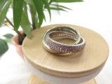 Boucle argentée de modèle de croix de diamant de rose de couleur avec du laiton de cuivre pour des femmes pour l'usager