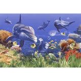 Seaworld 3D art mur de fond de carreaux émaillés pour décoration maison