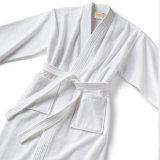 Luxury Wholesale Women and Men White Color Bath Dresses Kimono Collar Bathrobe
