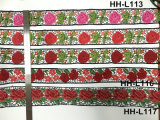 Шнурок цветка вышивки 3D типа изготовления Multicolor национальный