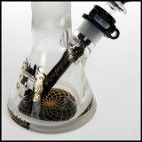 砂を吹き付けられた曇らされたIlladelphのビーカー水ガラスの煙る管