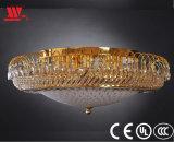 Luz de techo cristalina de oro moderna