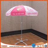 Das kundenspezifische im Freienbekanntmachen knallen oben beweglichen Sun-Strand-Regenschirm