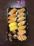 Bac de Sushi à usage unique de la plaque d'aliments contenant de l'emballage de qualité de la FDA
