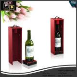 Professioneel Pu die de Houten Enige Doos verpakken van de Wijn van de Fles (4592)