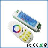무선 리모트 2.4G 4 지역 접촉 단추 RGBW 통제