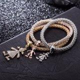 Monili a forma di umani a più strati del braccialetto del braccialetto di modo del diamante all'ingrosso di Zircon
