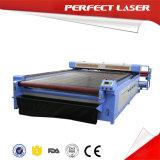 Cortador do laser do grande CO2 da tela/pano/matéria têxtil de Sacle 80W 120W 150W com auto alimentador