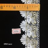 testo fisso nuziale del merletto di 8cm, bianco dal tessuto del merletto della guipure dell'iarda, Venezia che perfezionamento i merletti Hme894