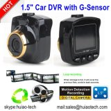 """1.5 """" cámara de rectángulo negro llena del coche de HD 1080P con el coche DVR, G-Sensor, visión nocturna, video DVR-1505 de la opinión trasera del coche 1.3mega de Digitaces de la rociada del coche del control que estaciona"""