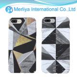 La figura de triángulo irregular geométrica Textura de mármol para el caso del teléfono iPhone
