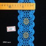 7cm balle de base d'or avec fleur bleu robes de mariée robe de mariage de tissu de dentelle hme887