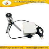 Palmtop Mini projector micro cabo retrátil carregador USB Recoiler