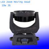 Indicatore luminoso mobile chiaro dello zoom della testa 36PCS*10W della fase del LED